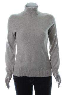 Jones New York NEW Gray Long Sleeve Cashmere Turtleneck Sweater M BHFO