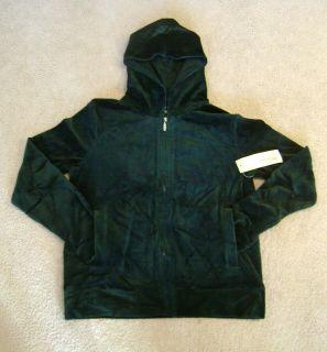 Jones New York Sport Green Velour Hoodie Jacket Sz M