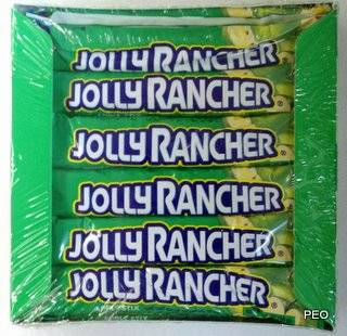 Jolly Rancher Green Apple Sticks Hard Candy 36 Count BX