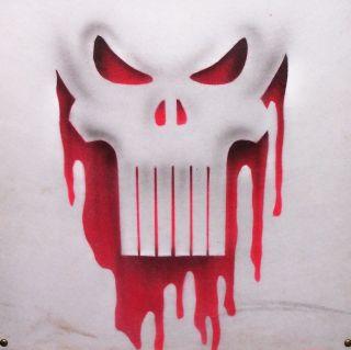 Airbrushed Punisher Skull Tee Shirt Personalized Airbrush