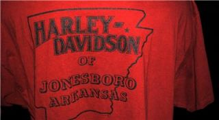 Harley Davidson Motorcycle T Shirt Jonesboro Arkansas Very Colorful Sz XXL