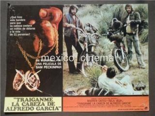 SAM PECKINPAH BRING ME THE HEAD OF ALFREDO GARCIA WARREN OATES MEXICO LOBBY CARD