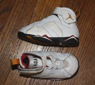 AIR JORDAN RETRO 6C TODDLER CARDINAL RED BLACK WHITE GOLD 304772 106