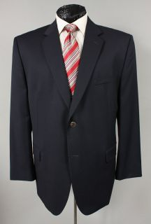 New Joseph Feiss Mens Navy Blue Wool Blazer Sport Coat 48 R