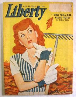 1944 October 21 Liberty Magazine Girls Ball League Ten Years in Japan