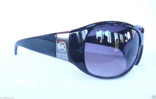 Michael Kors M3628S Black Silver Wrap MK Logo Sunglasses Authentic Womens New