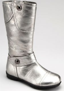 "New Girls ""Silver Pewter"" Size 1 Casual Dress Boots Shoes Selling Out Fast"