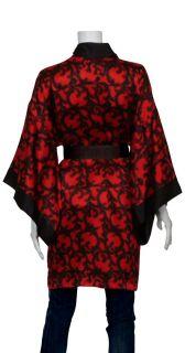 Josie Natori Red Silk Kimono Style Robe XS 0 2 4 New