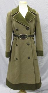 Vtg 60s Mod Joseph Stein Muriel Reade Russian Military Princess Wool Coat s M