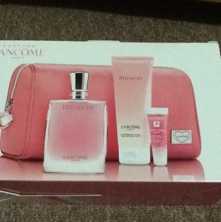 Lancone Miracle Lipgloss Lotion Bag Fragrance Perfume Set Box