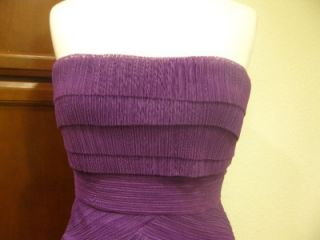 338 NEW BCBG Max Azria JORIE STRAPLESS COCKTAIL DRESS Pleated Ruffle Tulle us 4