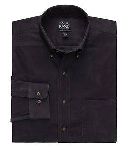 Jos A Bank Men's Factory Store Long Sleeve Corduroy Sport Shirt