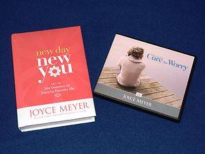 Joyce Meyer Lot Of NEW DAY NEW YOU DEVOTIONAL THE CAUSE CURE FOR WORRY
