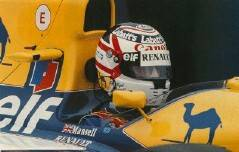 Nigel Mansell 1992 F1 Champion Replica Helmet Scale 1 1