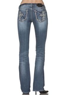 Miss Me JP5648B Swing Curvy Cross Boot Cut Lowrise Stretch Jeans