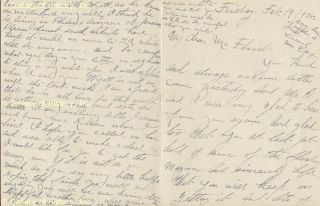 "Josephine ""Josie"" Earp Autograph Letter Signed 02 19 1925"