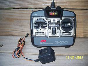 JR FM 4 CHANNEL RC RADIO BATTERY AND DUAL CHARGER