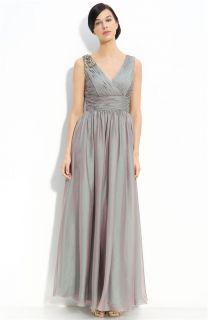 JS Collections Ruched Cationic Chiffon Gown Sz 10