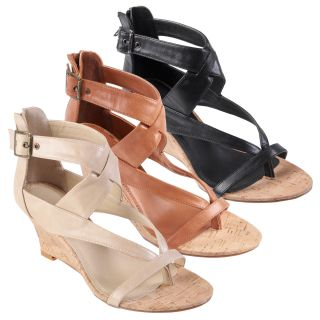 Journee Collection Women's 'Shelby 19' Strappy Low Wedge Sandal