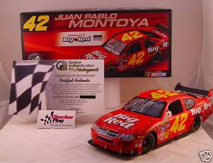 Juan Pablo Montoya Signed 1 24 Big Red 42 Car GAI COA