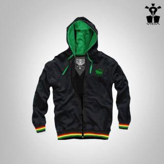 Hoodie Rasta Reggae Jamaica Lion of Judah Vida Shirt Marley Jacket Clothes Ska