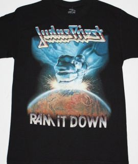 Judas Priest RAM It Down'88 Heavy Metal Rob Halford Saxon New Black T Shirt