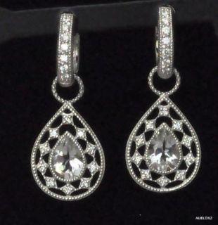 Zasha by Jude Frances Diamond Pear Earring Charms
