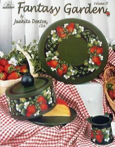 Fantasy Garden 2 Juanita Denton Tole Painting Book New