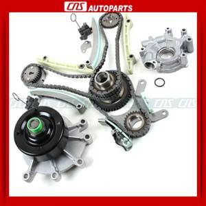 99 04 Dodge Jeep 4 7L SOHC Timing Chain Kit Water Pump w Oil Pump w Gears Jtec