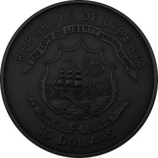 Liberia $10 Dollars 2005 Black Silver Gold in Memorial Karol Wojtyla COA RARE