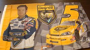 Dale Earnhardt Jr Autographed Degree Men V2 Flag