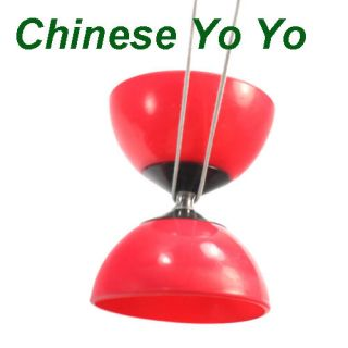 Diablo Diabolo Juggling Spinning Chinese Yo Yo Red Hot
