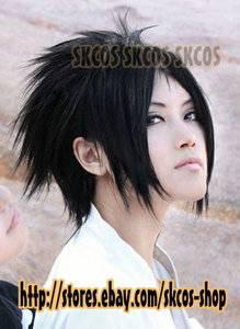 Naruto Uchiha sasuke cosplay wig costume B2