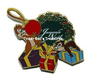 Disney Pin Le 900 DLP Chip Dale Merry Christmas 2010 JOYEUX Noël 2010