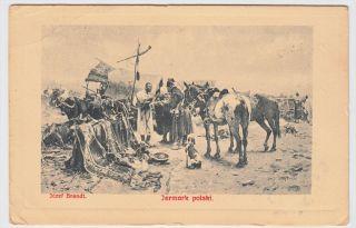 Austria Jarmark POLSKI Jozef Brandt 1909 Art Postcard