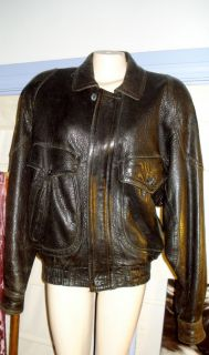 Julian Adventures Mens Black Distressed Leather Jacket Thinsulated