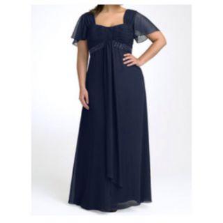 JS Boutique Flutter Sleeve Chiffon Gown Plus 18W