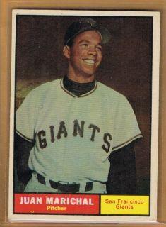 1961 Topps Juan Marichal RC 417 San Francisco Giants Rookie SP