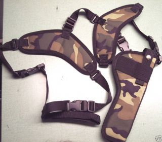 Small Camo Shoulder Holster Taurus Judge 3 Magnum Cyl