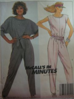 Vtg McCalls 9490 Womens Jumpsuit One PC Sewing Pattern