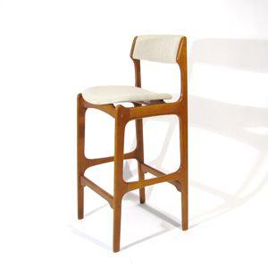 Teak Mid Century Bar Stool Chair Vodder Juhl Eames Era Barstool