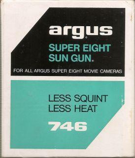 Argus Super Eight Sun Gun for all Argus Super Eight Movie Cameras Less