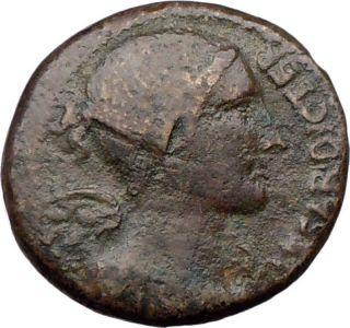 JULIUS CAESAR Dictator Rome 45 B C Brass dupondius VICTORY MINERVA