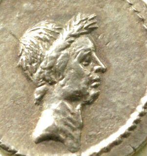 Julius Caesar Silver Denarius BN 141