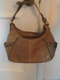 Authentic Brahmin Juliette Leather Hobo Handbag