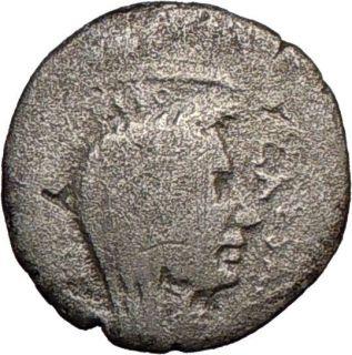 JULIUS CAESAR, February March 44BC., Lifetime portrait silver denarius