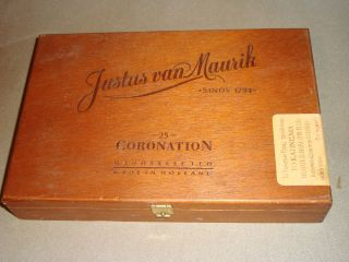 Justus Van Maurik Old Authentic Wooden Empty Cigar Box Holland