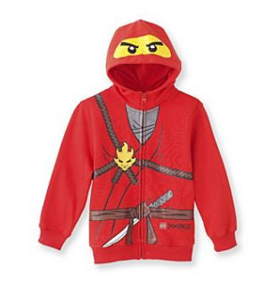 New Lego Ninjago Red Hoodie Jacket Costume Fleece Ninja Kai
