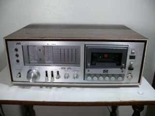 Vintage JVC KD 85 Cassette Deck with Wood Case