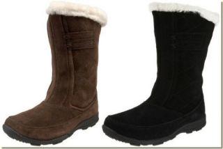 Kamik Womens Brown Waterproof Suede Winter Boots 11